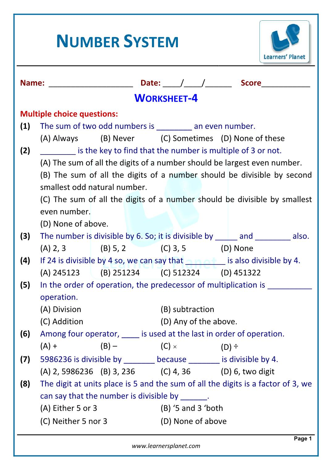Real Number System Worksheet / Fall Color By Number ...