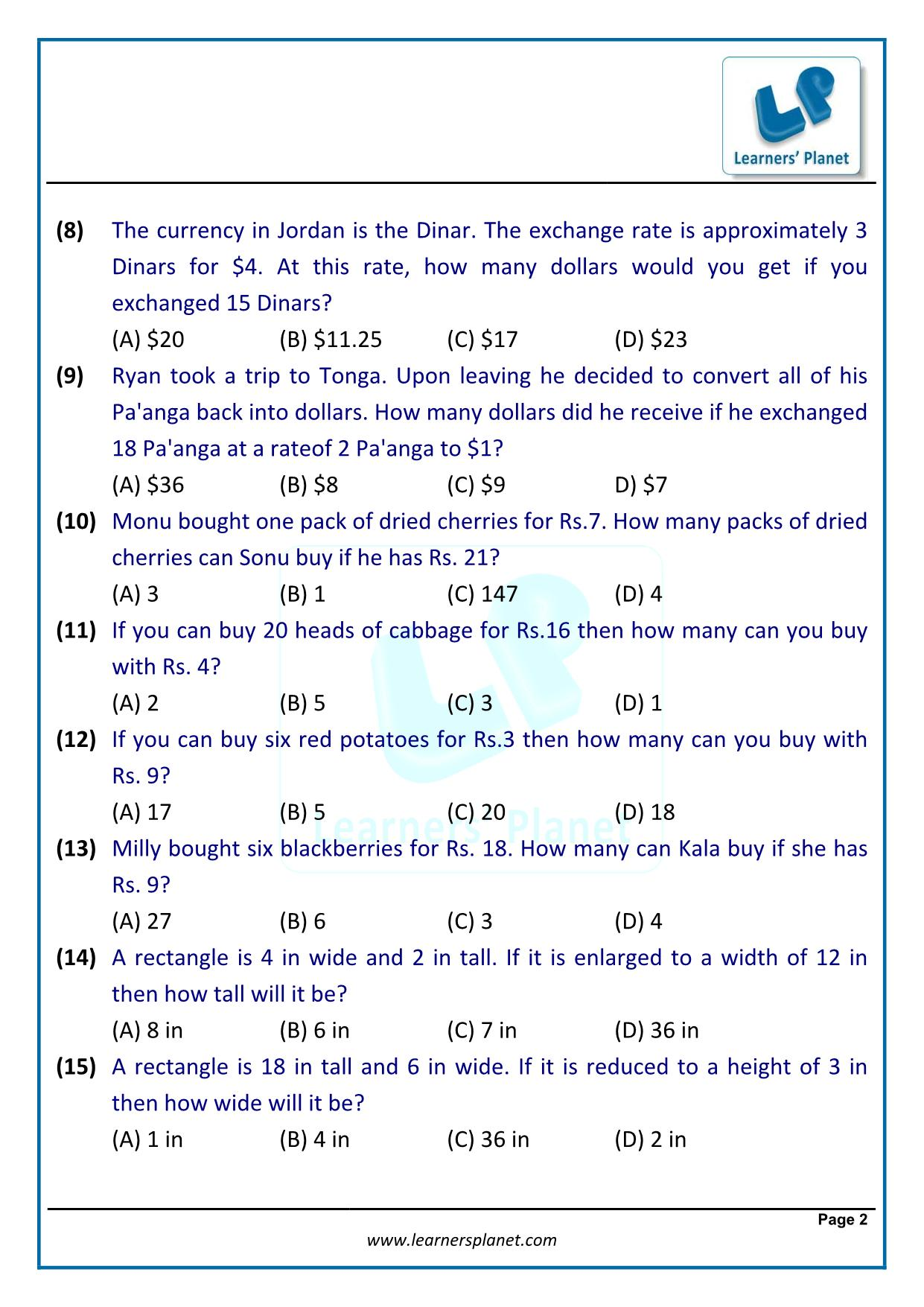 Unitary method class 7 maths solutions exercise