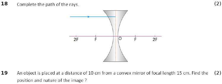 online practice physics worksheet Light Reflection and Refraction for 10-cbse-icse kids