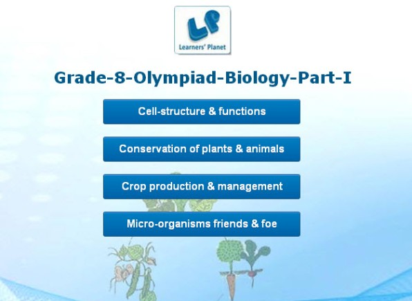 8th olympiad biology interactive practice quizzes