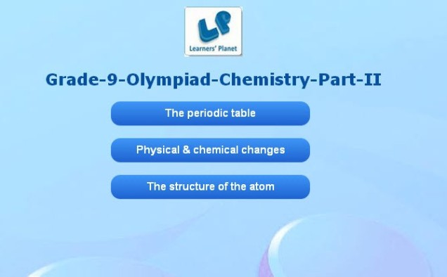 Chemistry interactive practice quiz for 9th olympiad