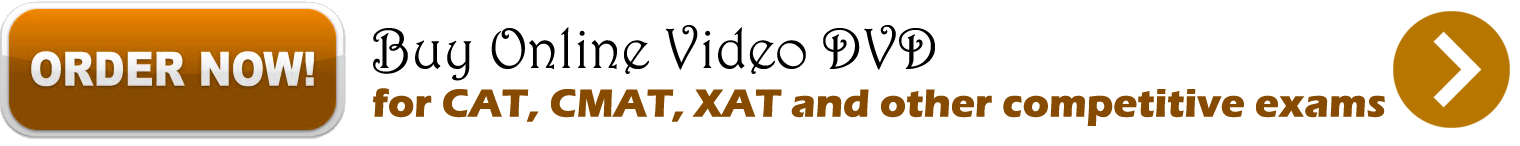 Buy online video DVD for CAT, CMAT, XAT and other competitive exams