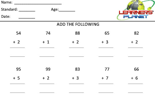 Grade 2 maths addition worksheets for students tutorials