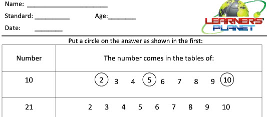 Online printable worksheets for maths multiplication class 2