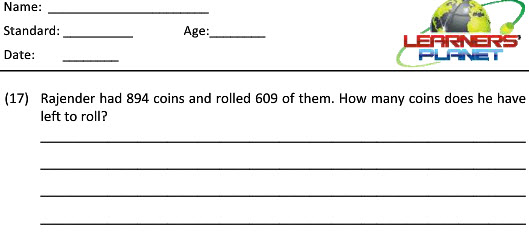 Maths grade 2 subtraction word problems worksheets for students tutorial