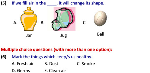 Science Air Around us worksheets for grade 2 kids