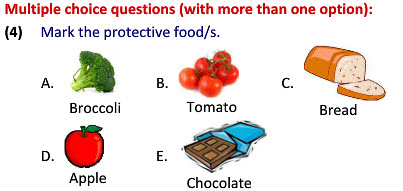 Second class science Food for Health worksheets for kids tutorials