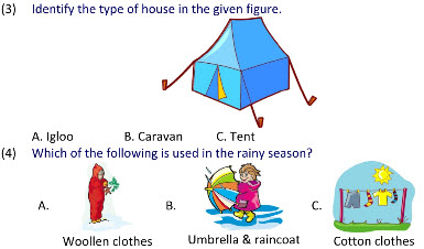 practice worksheets on Housing and Clothing for grade 2 kids