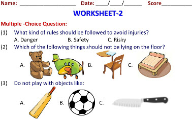Class 3 Science printable worksheets on Keeping Safe for students