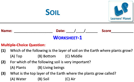 Grade 3 Science Worksheets On Soil Ncert Study Material