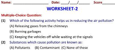 Online Printable Worksheets on Our Environment for Science class 5 kids