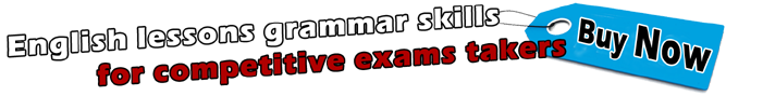 English lessons grammar skills for competitive exams takers