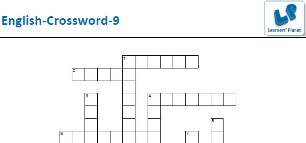 English crossword puzzle printable worksheets