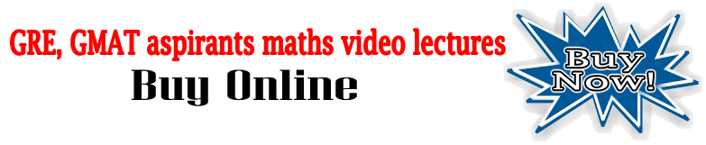 GRE, GMAT aspirants maths video lectures buy online