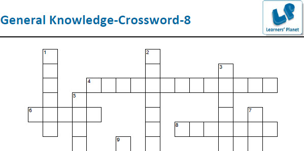 General knowledge printable crossword puzzles for students