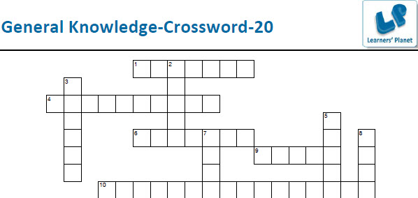 General knowledge crossword worksheets for children