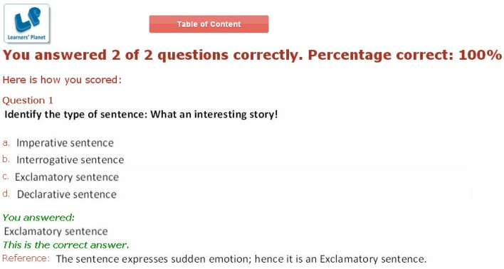Online english interactive study material for fifth class