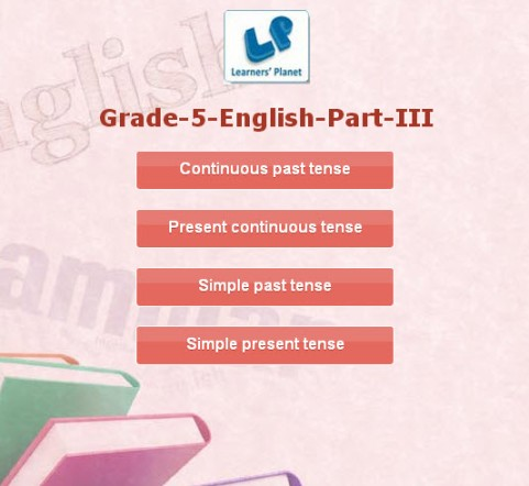 Class 5 english interactive learning resources