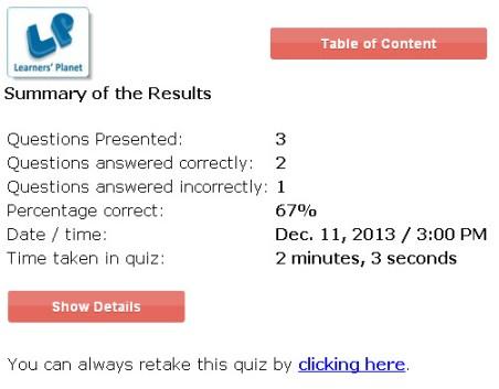 Interactive online 5th class english grammar quizzes