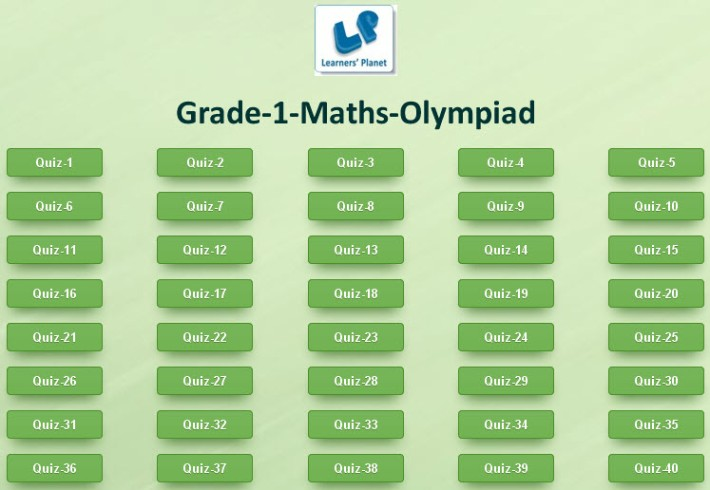 Grade 1 maths olympiad interactice study online