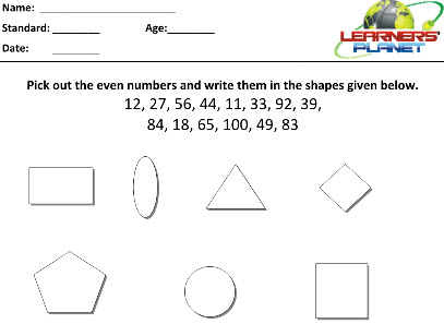 Mental Maths practice worksheets for class two students