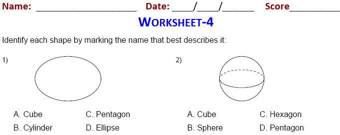 Practice worksheets on Geometry for grade 3