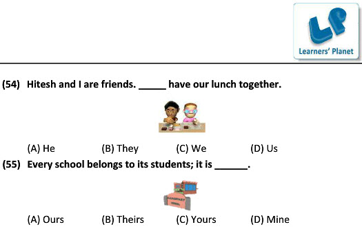grade-4 English worksheets Supply Pronouns for students