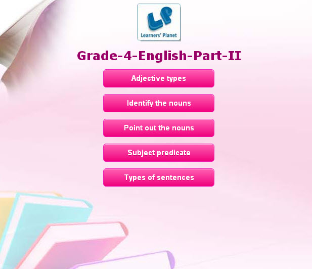 4th class english interactive quizzes for students