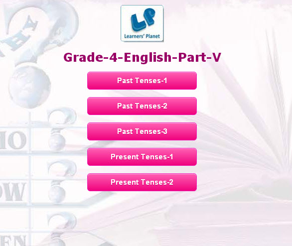 English grammar interactive quizzes for 4th graders