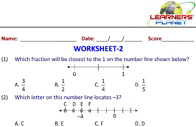 math worksheets in Number Lines and Coordinates for class 5 kids