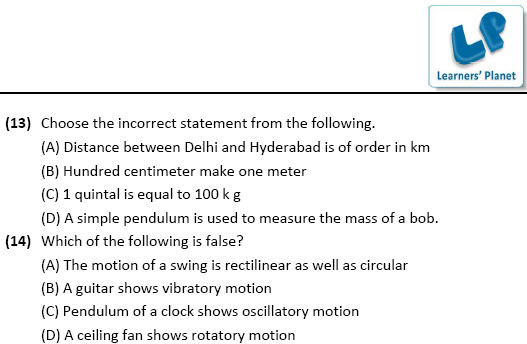 class 6 olympiad science worksheets motion and measurement of distances