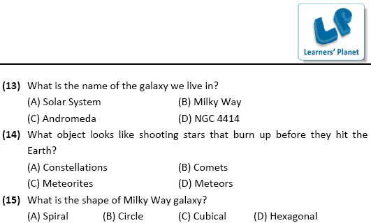 class 6 science olympiad worksheets the universe