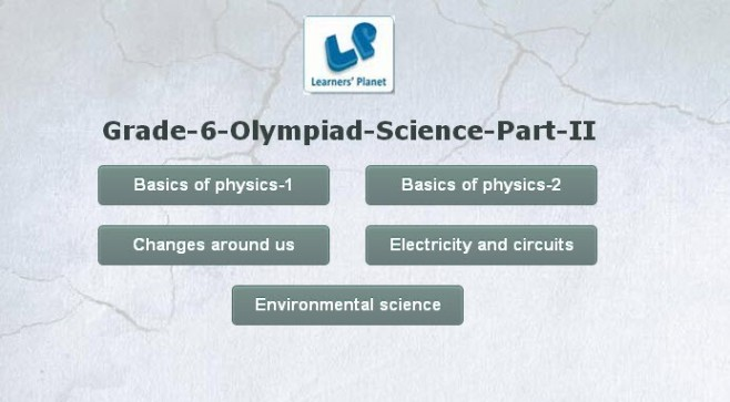 6th grade science olympiad online study material
