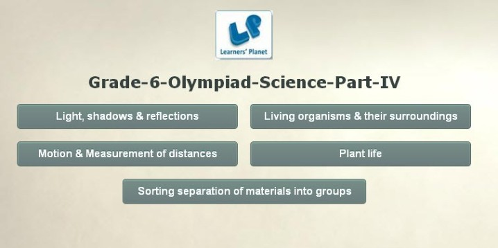 Science interactive olympiad class 6 online tutorials