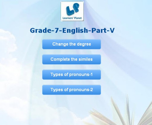 Learning english quizzes interactive for 7th grade