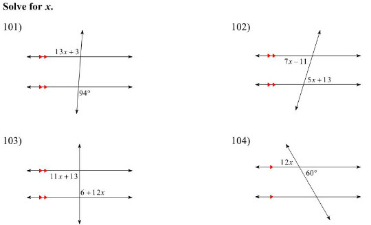 Maths practice worksheets on Lines & angles for CBSE class students