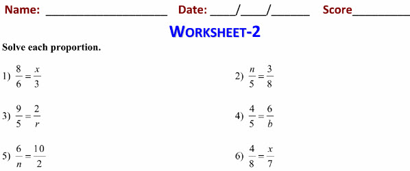 class 7th Maths practice worksheets for Proportions
