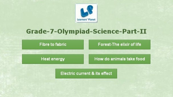 Olympiad class 7 interactive learning resource science
