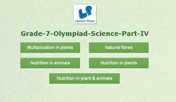 Olympiad seventh grade science online practice tests
