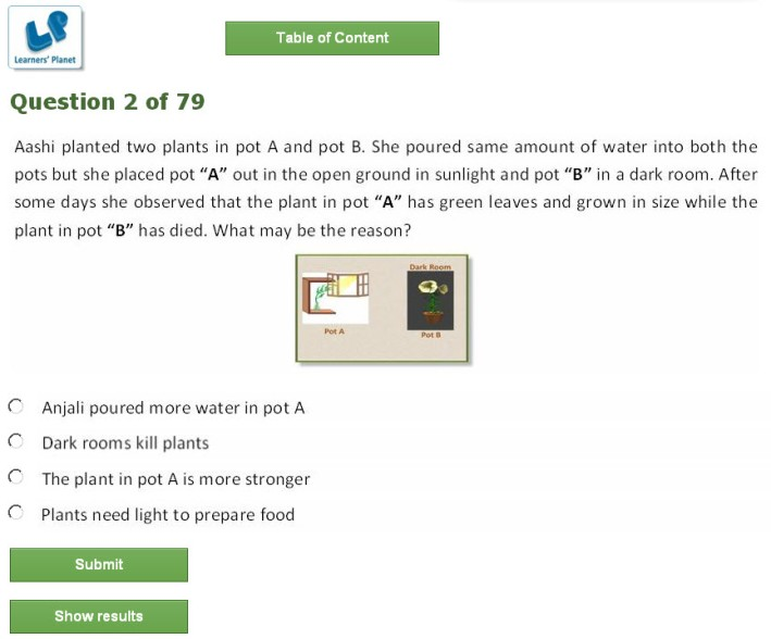 7th class olympiad science interactive study online