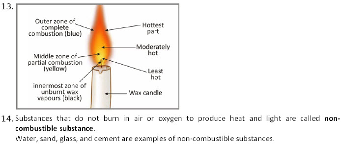 CBSE 8th Chemistry Combustion and Flame worksheets
