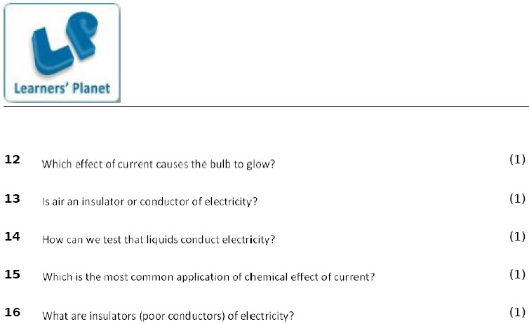 grade 8 cbse physics chemical effects of electric current worksheet. Black Bedroom Furniture Sets. Home Design Ideas
