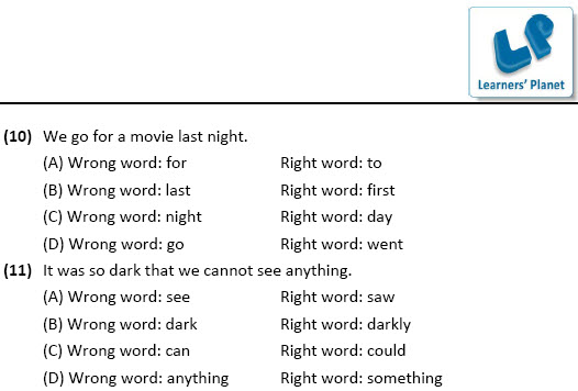 English worksheets for Edit the Sentences for class 8 students