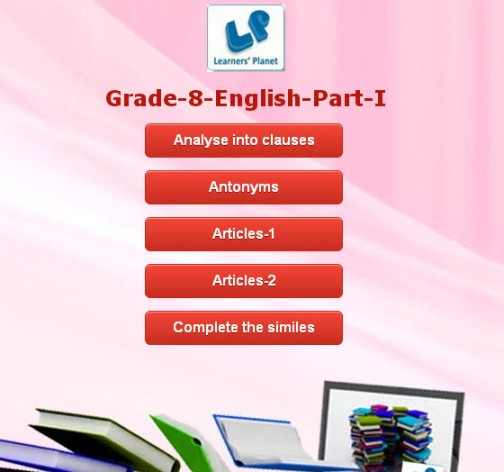 English interactive quiz for grade 8 cbse students