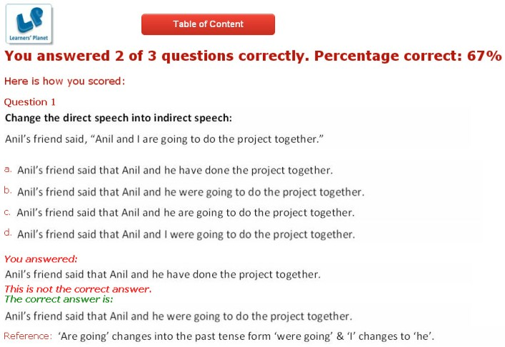 English grammar interactive practice test for cbse 8th class