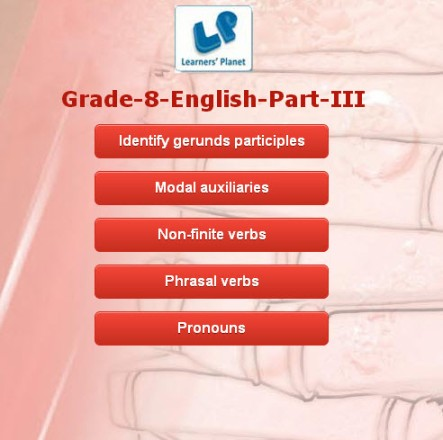 Online english grammar quizzes for class 8 cbse