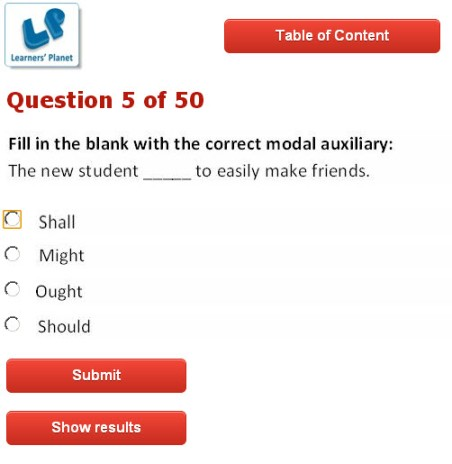 Interactive quizzes on english for cbse class 8 students