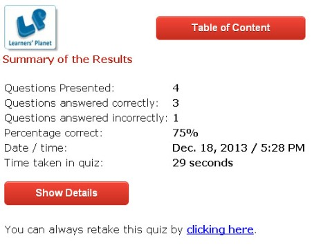 Learning english interactive quizzes for cbse grade 8