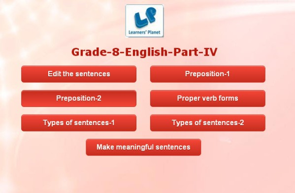Class 8 english grammar test for cbse students tutorials