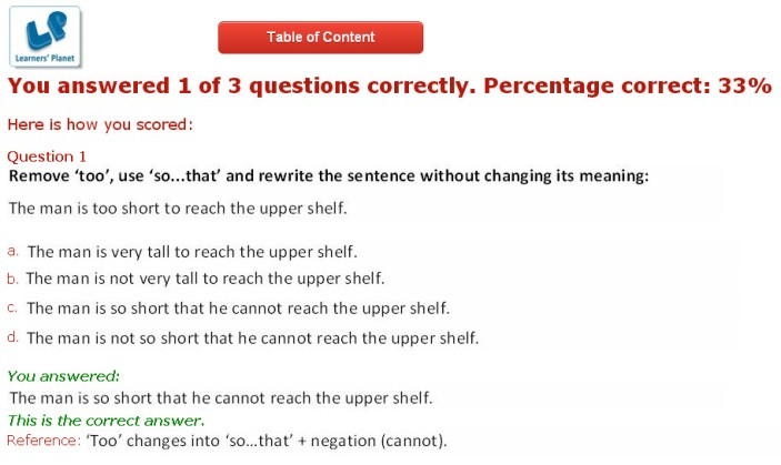 Grade 8 english interactive practice study material